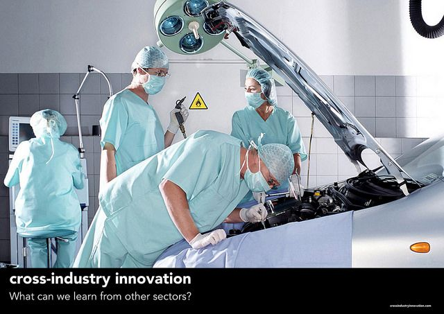 Learn from other sectors -  Poster from the book 'Not Invented Here: cross-industry innovation'