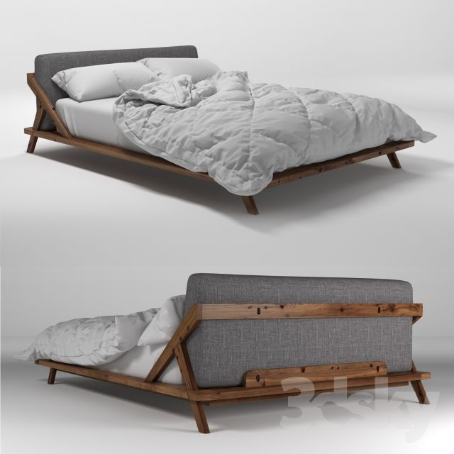Drommen bed - bed I am considering for the master bedroom. though no longer available with the grey background (is now cream) from CB2 directly