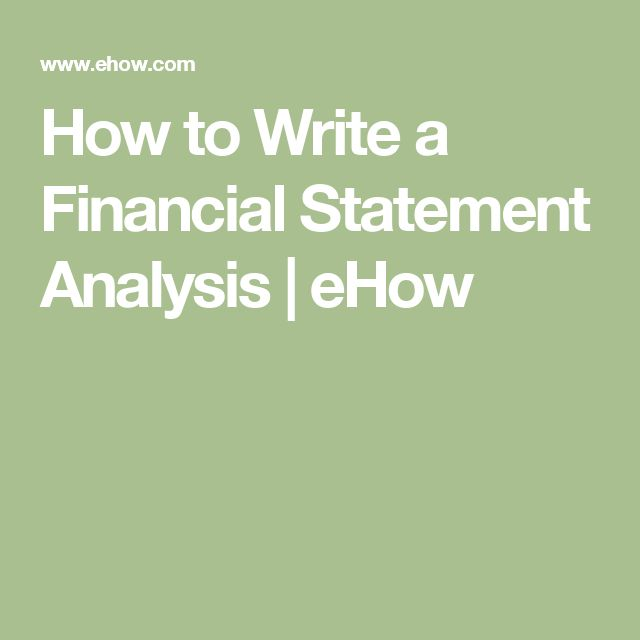 The 25+ best Financial statement analysis ideas on Pinterest - finance report format