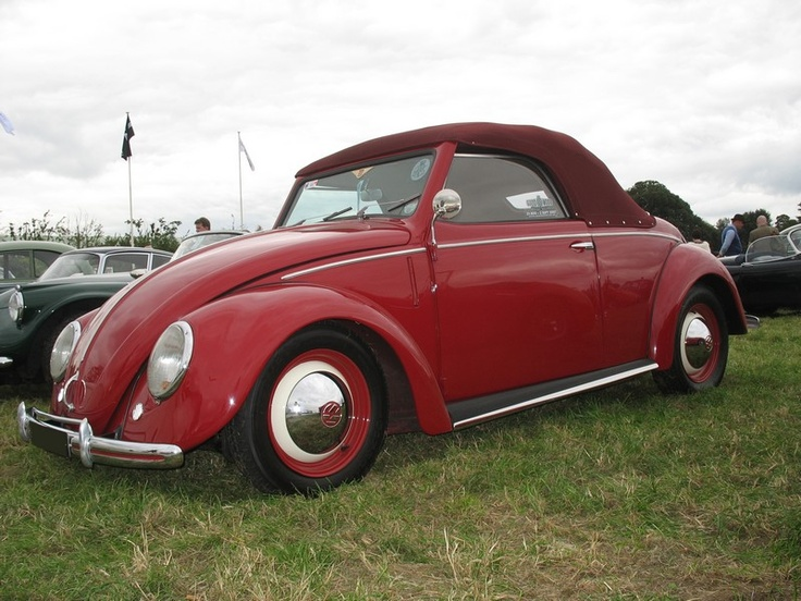 Volkswagen Coccinelle cabriolet, classic German car; (almost like out beetle car!) :)