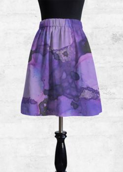 Cupro Skirt - Blue Moon Roses by VIDA VIDA