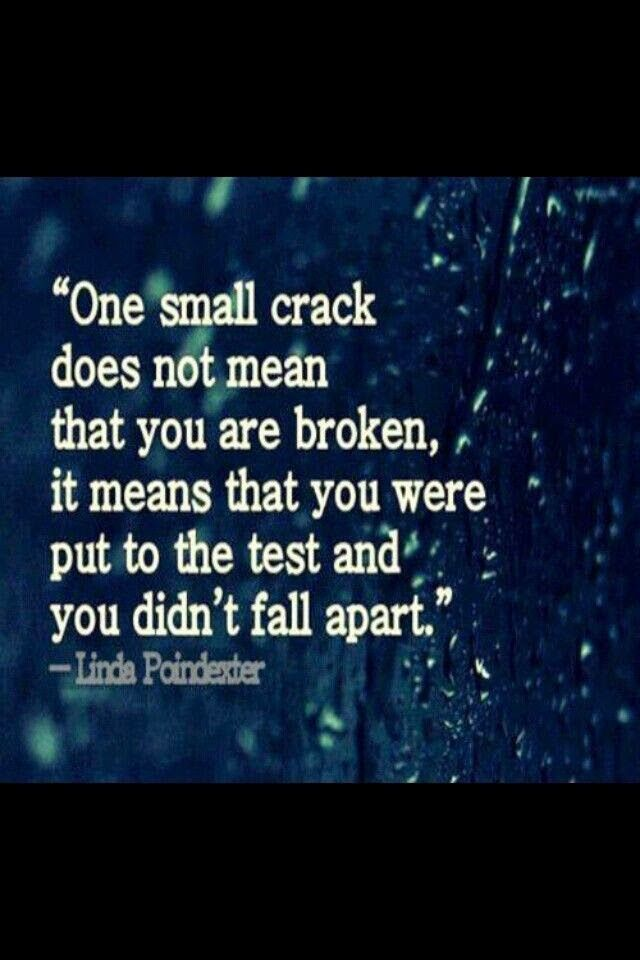 Allwaysbehappy: One Small Crack ....