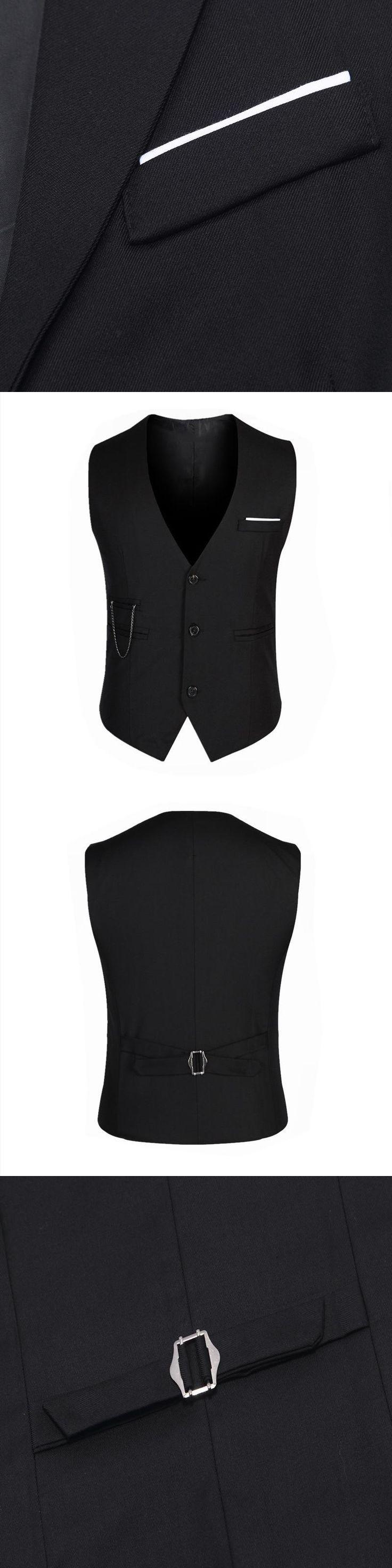Men's Suit Vest Men gilet Solid White Grey Black Red Formal Dress Slim Fit Male Waistcoat Wedding Casual Blazer Vest Male