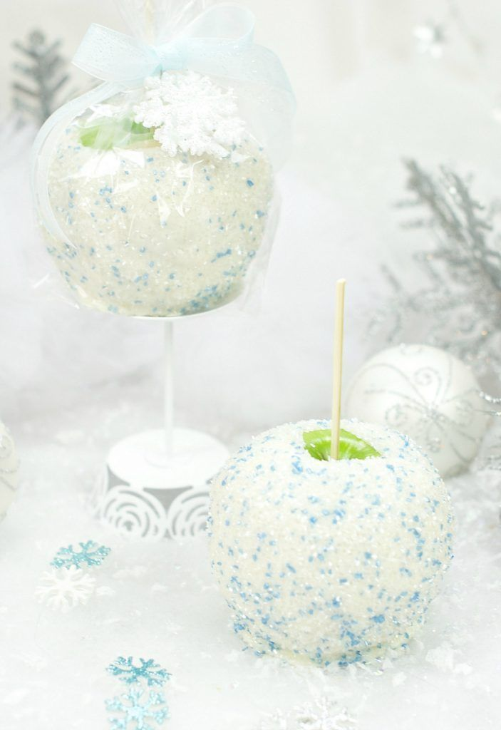 Snowball Caramel Apple ...enjoy these amazing and delicious sparkling treats! Perfect for the holiday season, and little hands love to help create these magical treats!