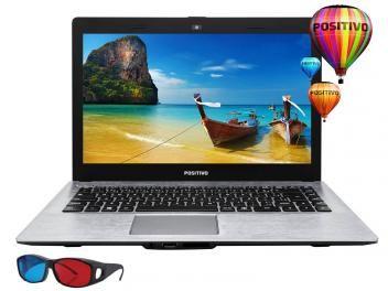 Notebook Positivo Stilo XRI2950 Intel Celeron - 2GB 32GB Flash LCD 14 3D HDMI Óculos 3D Linux em até 10x de R$ 109,90 sem juros no cartão de crédito