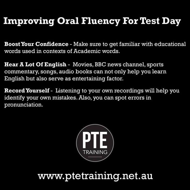 Tips to improve Oral Fluency For Test Day. #ptetrainingbrisbane #personalisedtraining #comprehensivetraining #personaldevelopment #learningskill #writingskill #inspirelearning
