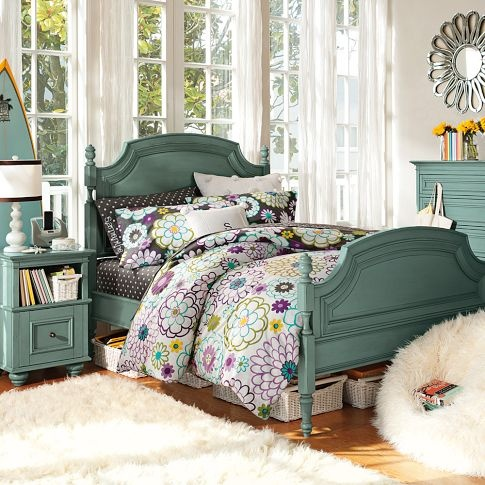 Pottery Barn Teen Madison Bedding Violets New Bed