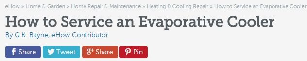 How to Service an Evaporative Cooler | eHow