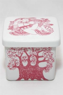 "Vtg 60s Turi Design ""Arden"" Figgjo Flint Norway Covered Container Jar"