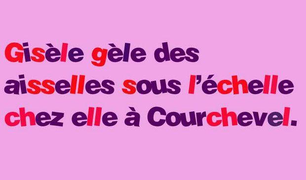 Mais que fait Gisèle sous une échelle à Courchevel ?