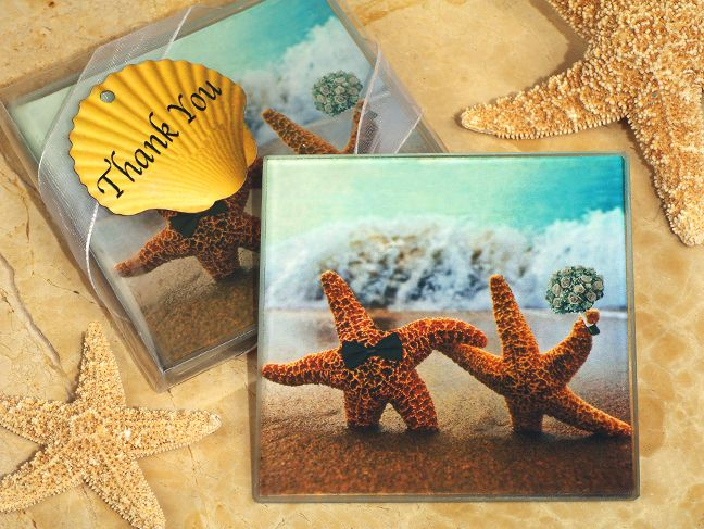 Wedding Favor Ideas Favors Depot Page Moved See More A Perfect Pair Beach Theme Glass Coasters