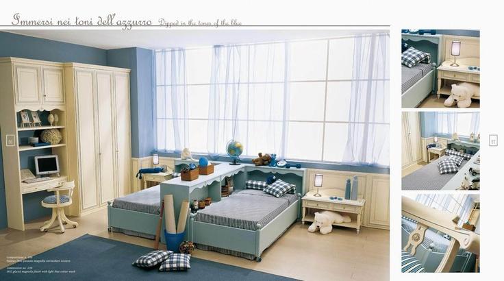 Dětský pokoj pro dva včetně kompletního nábytku od Ferretti & Ferretti, kompletní kolekci této značky naleznete na našich stránkách: http://www.saloncardinal.com/galerie-ferretti-ferretti-aae