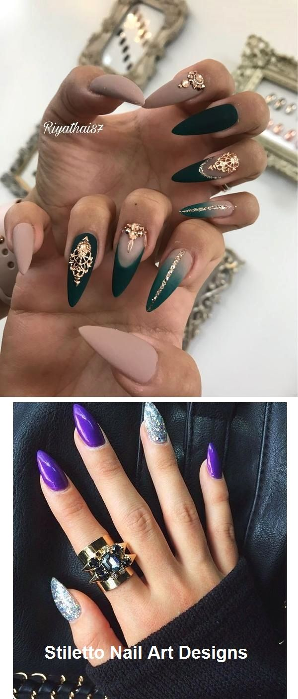 30 große Stiletto Nail Art Design-Ideen #naildesign – Nageldesign