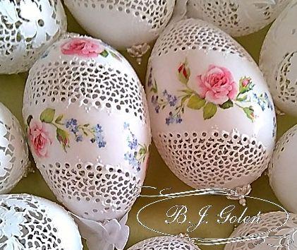 eggs - pisanka- wydmuszka gęsia ażurowa - BJGoleń