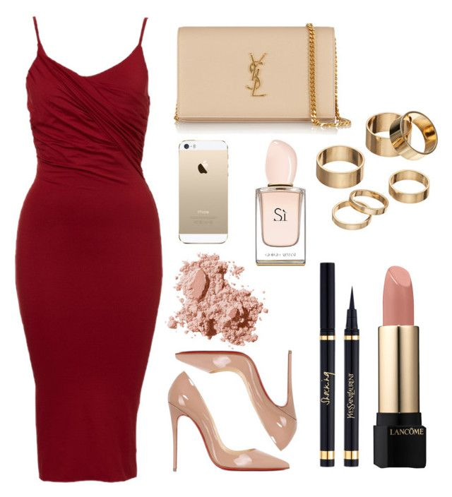Untitled #47 by rodoulla97 on Polyvore featuring polyvore fashion style Christian Louboutin Yves Saint Laurent Apt. 9 Lancôme Bobbi Brown Cosmetics FingerPrint Jewellry clothing