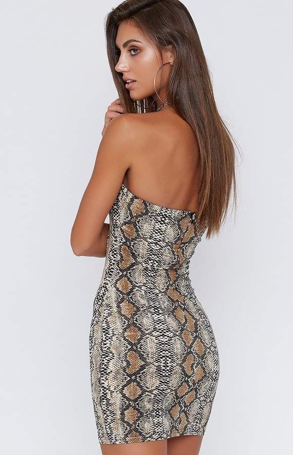 cff44c7a634b Viper Snakeskin Dress in 2019 | Dresses | Snake skin dress, Snake ...