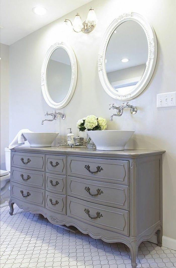 Lavabo Retro Meuble De Salle De Bain Style Shabby Chic Shabbychicbathrooms Shabby Chic Bathroom Custom Bathroom Vanity Bathroom Inspiration