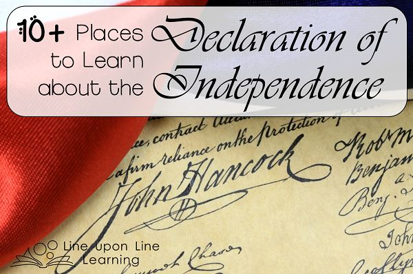 10+ Web Resources for Learning about the Declaration of Independence | Fourth of July Teaching Resources | U.S. Histo