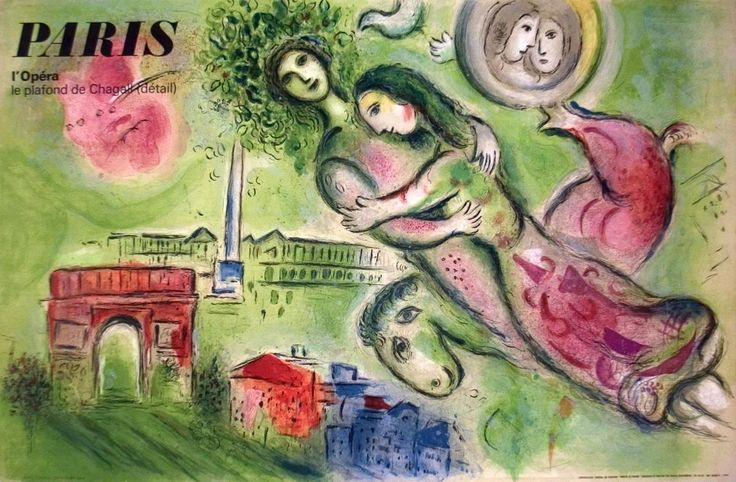 1964 Chagall Romeo and Juliette Mourlot Lithograph