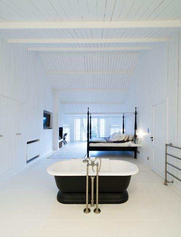 Белая скандинавская ванная с вагонкой   #белый #вагонка #ванная