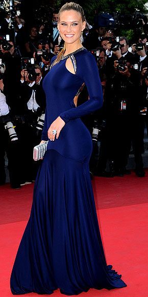 """Bar Rafaeli in Roberto Cavalli at """"The Beaver"""" premiere during the Cannes Film Festival, May 2011"""
