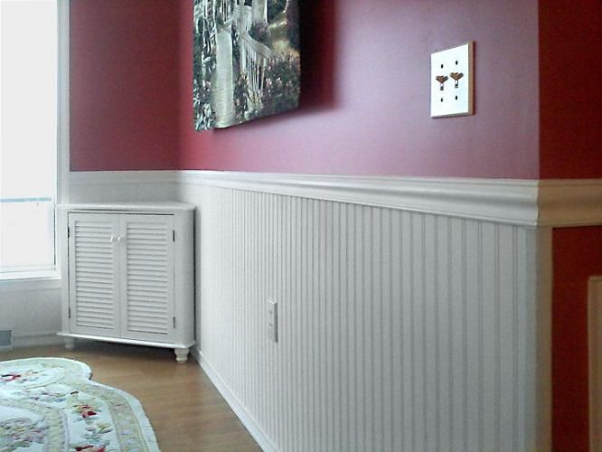 Vinyl Wainscoting With Beautiful Carpet Flooring For