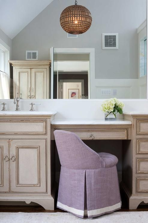 distressed-french-washstand-vanity-purple-linen-skirted-stool.jpg (493×740)