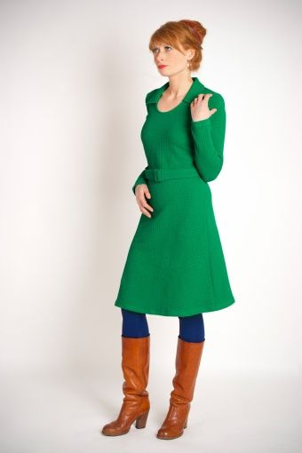 Wow To Go! - 70s Anouck Dress in Lucky Green