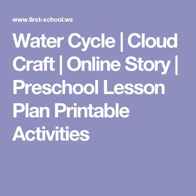 Water Cycle | Cloud Craft | Online Story | Preschool Lesson Plan Printable Activities
