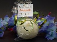 Honeysuckle $2.50 This sweet floral aroma really stands out. Notes of tuberose, nectarine, and cherry are picked up on first impression. However, the middle notes of honeysuckle, jasmine, and rose quickly make their appearance. The base notes of sandalwood and musk give this Bath Bomb a calming foundation. You can brake our bath bombs in half and use it for two baths or you can leave it whole and have a truly luxurious bath.  Ingredients:  water, Sodium Bicarbonate, Goat Milk, Colloidal…