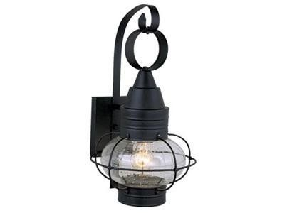 Vaxcel ow21891tb onion 1 light medium outdoor lighting wall lamp fixture black glass