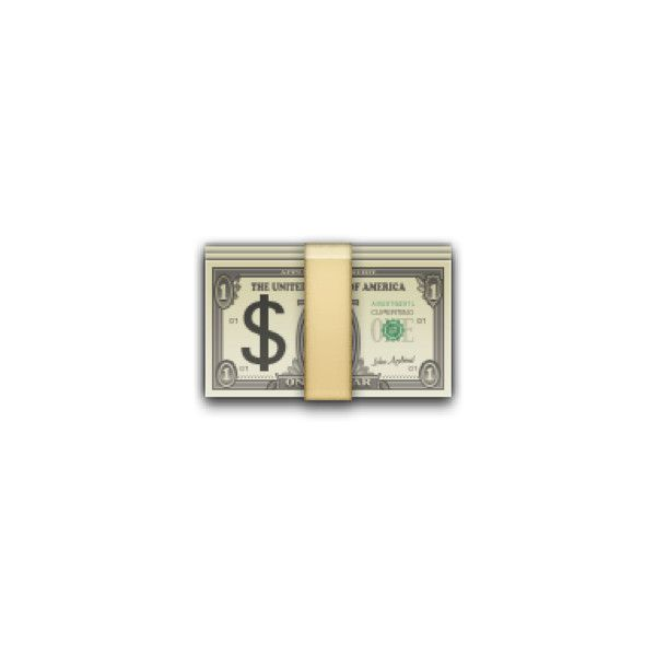Banknote with Dollar Sign ❤ liked on Polyvore featuring home, home decor, emoji, fillers, money sign, money dollar sign, dollar sign, apple home decor and emoji signs