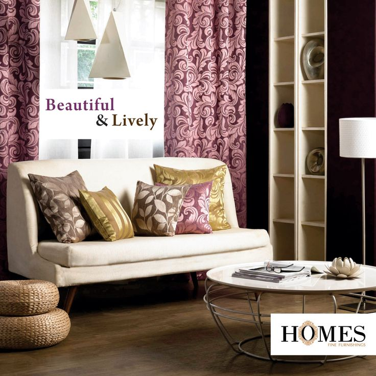 Give your home furnishings a blissful blend of liveliness and attraction with #Homes.  Explore more on www.homesfurnishings.com #HomeInteriors #HomeFabrics #InteriorDesign #InteriorDecoration #HomeDesign #HomeFabrics #curtain #pillows.