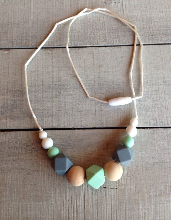 Geometric Silicone Teething Necklace Silicone by TheTeethingFairy