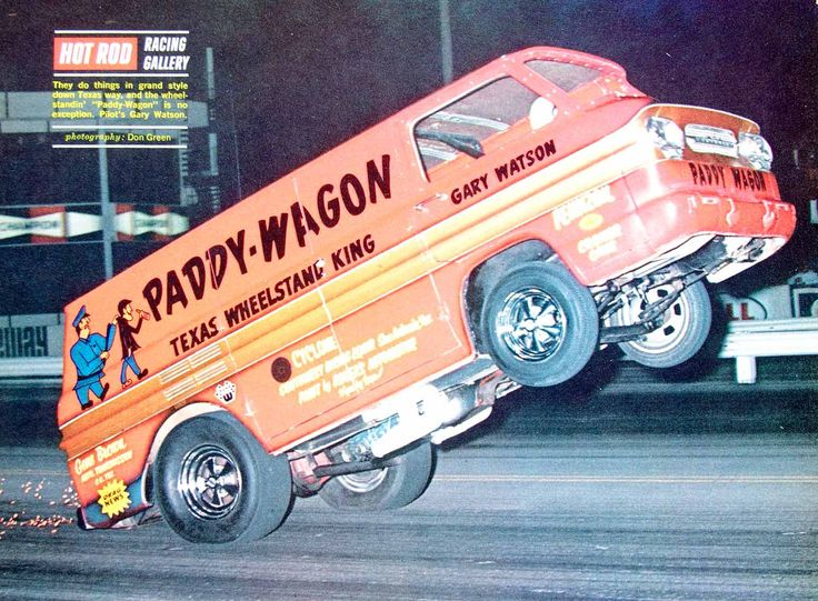 1968 Color Print Paddy Wagon Wheelstander Gary Watson Exhibition Drag Race YHR3