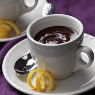"""I've been looking for a delicious, easy, thick hot chocolate recipe ala """"Chocolat,"""" and here it is.  No heavy cream or baking chocolate... just milk, cocoa, sugar, and cornstarch.  I added a dash of salt and a splash of vanilla.  Other possibilities: peppermint extract, orange peel, cinnamon, chili powder, etc...."""