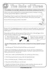 This shows students how to use the 'Rule of Three' when they plan their persuasive writing.