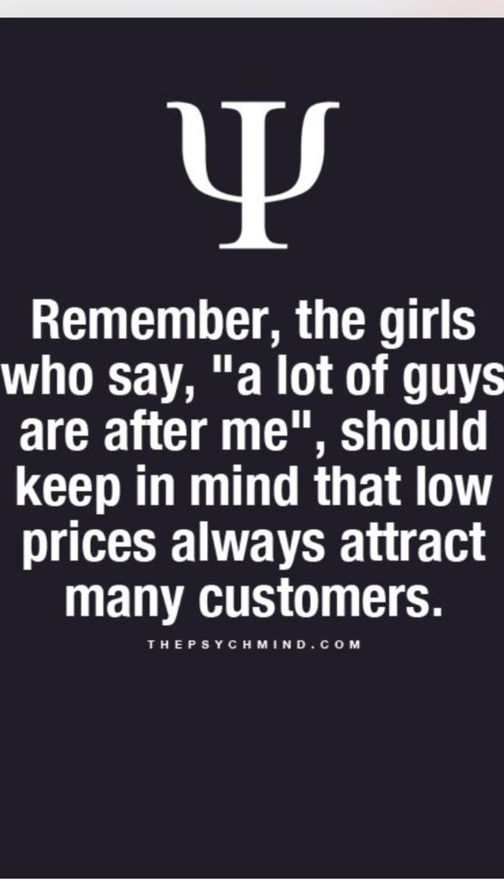 Yup. All woman must respect themselvs bc too many ppl will b quick to judge n cut u with negative remarks