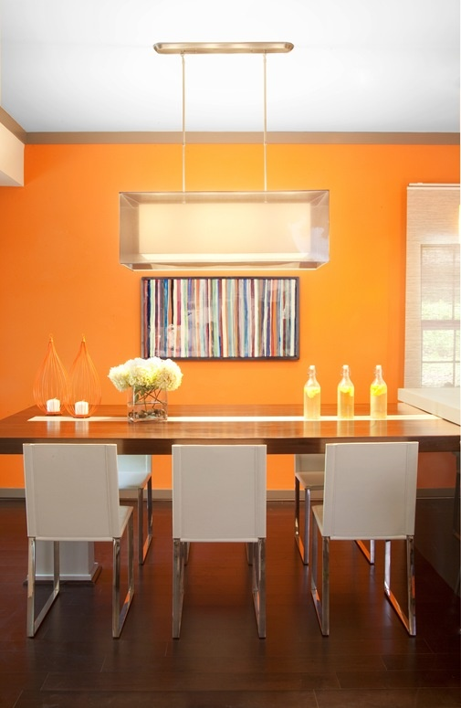 13 Best Dining Room Images On Pinterest  Dining Room Tables Prepossessing Orange Dining Room Table Design Inspiration