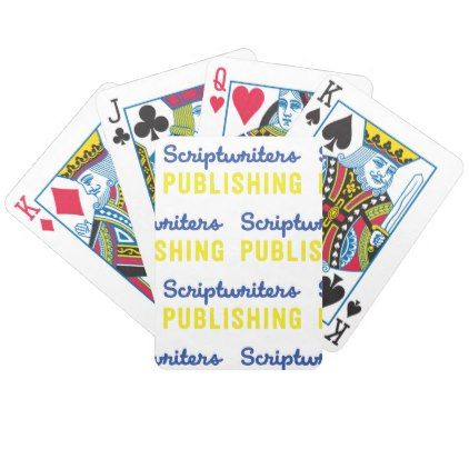 Scriptwriters Publishing Bicycle Playing Cards - heart gifts love hearts special diy