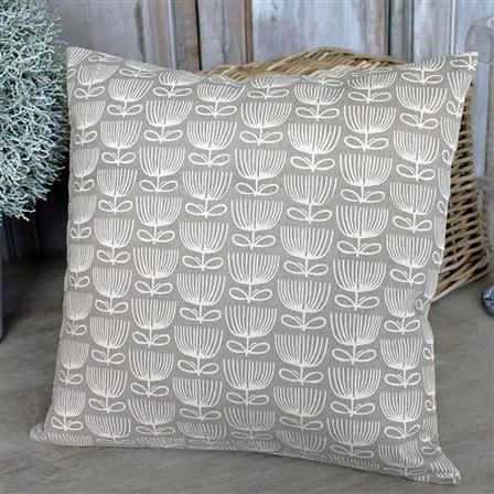 Funky Floral Cushion, Dark Linen; like the pattern
