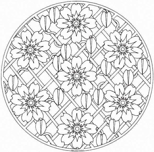 mandala coloring pages printable | Back to Coloring pages special mandala category