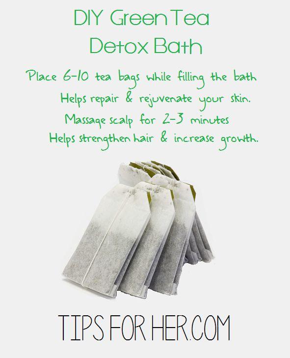 Repair and rejuvenate your skin with this DIY Green Tea Detox Bath