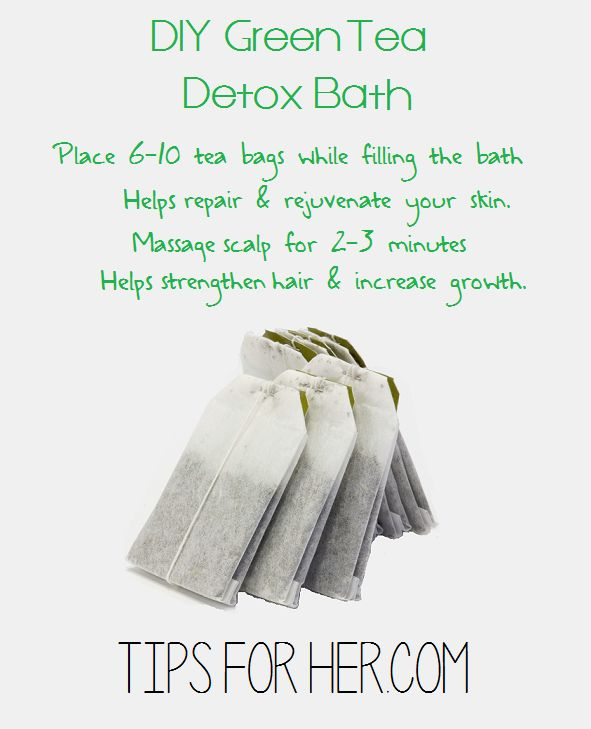 Repair and rejuvenate your skin with this DIY Green Tea Detox Bath