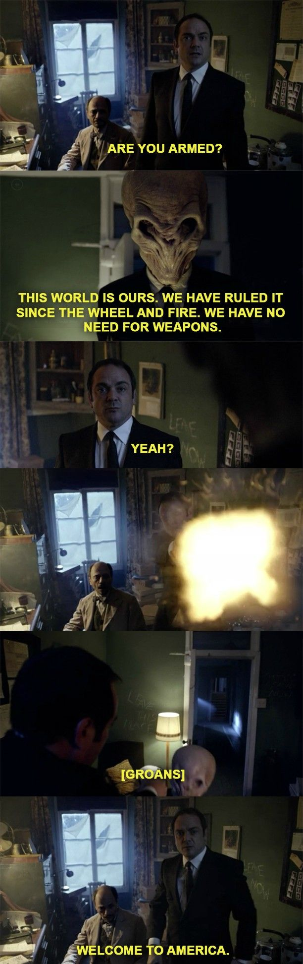What happens when Crowley shows up on Doctor Who. << Pinning for that comment.