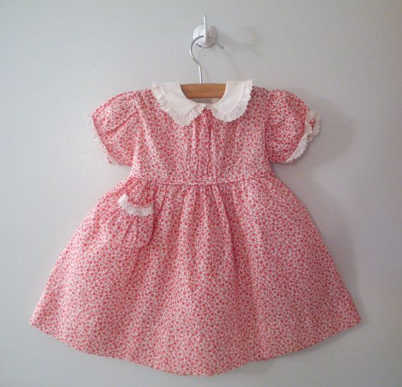 vintage little girl dress found at BabyTweeds on Etsy.