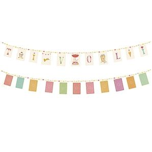 Maileg small flag banner/garland. Tivoli is a small town and entertainment center in Copenhagen, Denmark. 7' L. Find it now at CiaoBellaShop.com!
