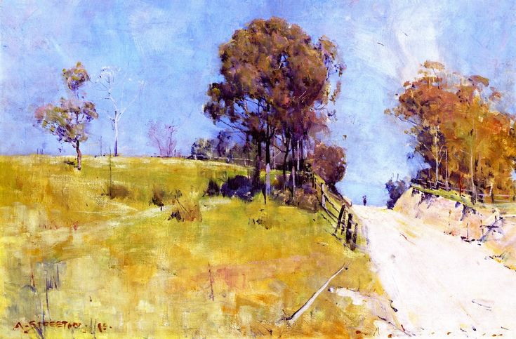 The Athenaeum - Sunlight (Sir Arthur Streeton - )