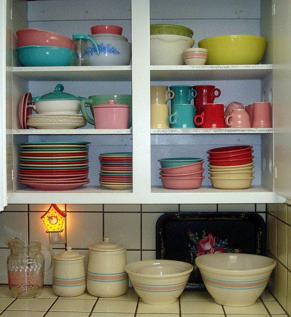 Vintage Dishes I Love Open Cupboards :)