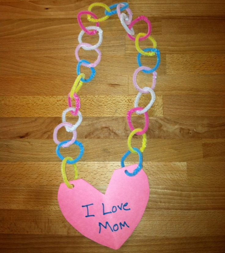 Preschool Crafts For Kids*: Mother's Day Necklace Card Craft